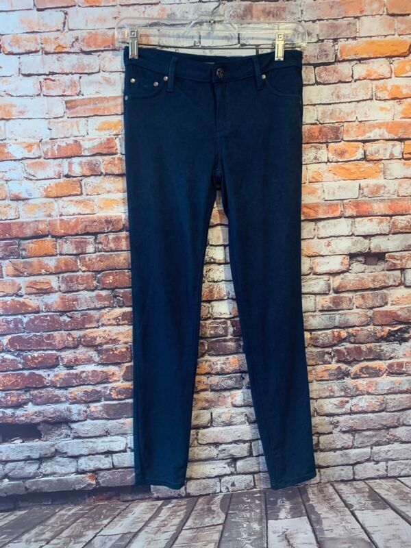 Tractr Girls Blue Soft Suede Pants Legging Size 14