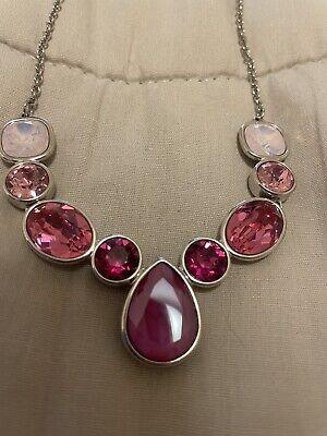 touchstone crystal swarovski necklace Pink Stones.