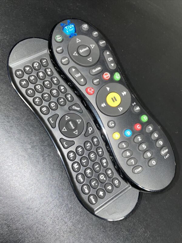 TiVo Slide Pro Remote C00260 ~ GLOW IN THE DARK BUTTONS ~ Slide Out Keyboard