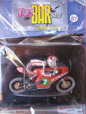 Joe Bar Collection Nr.87 Zeitschrift + Harley Davidson GP de 1975 in Folie 1:18