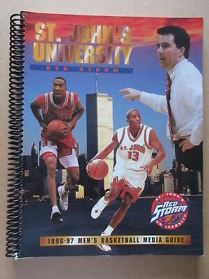 ST. JOHN'S UNIVERSITY 1996 1997  media giude yearbook Basketball WORLD TRADE CTR