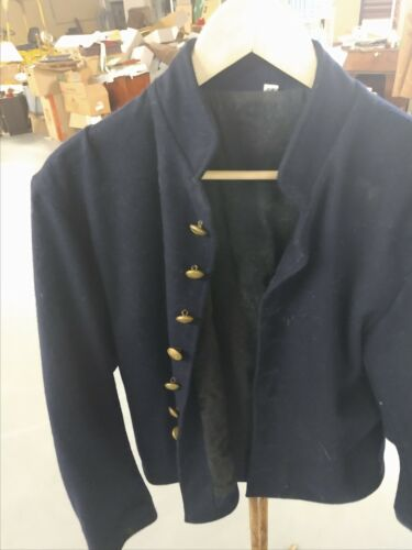 Union Officers Civil War Shell Jacket size 44  w/ epaulets  USED