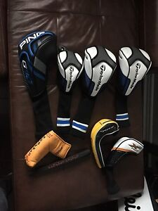 Golf head covers Ping g30 Taylor made SCOTTY Cameron grip too