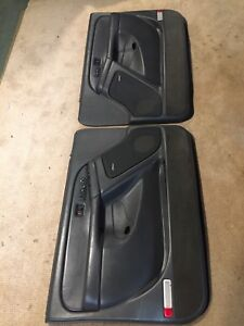 1999-2007 GMC Sierra Chevy Silverado dark grey door panels