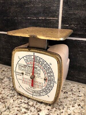 Vintage Pelouze Pink Postal Scale Model Z - 2 Rates From May 1971 Farmhouse