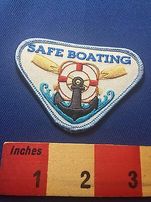 Fun BOAT & Holdfast Patch ~ SAFE BOATING ~ Water Sport Safety 73XO