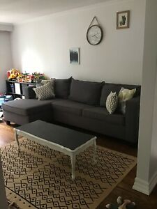 Leon's Grey Sectional with pull out bed