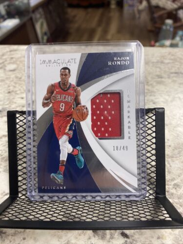 2017-18 Immaculate Remarkable Rajon Rondo Jersey 46/49 Pelicans - FREE SHIP  - $9.03