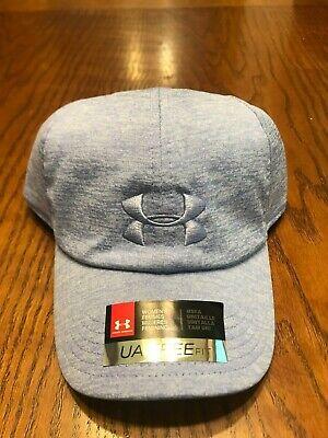 NWT UNDER ARMOUR WOMEN'S UA MICROTHREAD TWIST RENEGADE CAP HAT Talc Blue