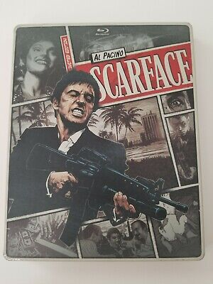 SCARFACE BLU-RAY & DVD LIMITED EDITION STEELBOOK AL PACINO no digital