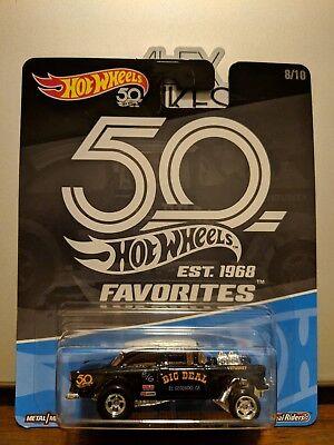 2018 Hot Wheels 50th Favorites Kroger Exclusive Black '55 Chevy Bel Air Gasser