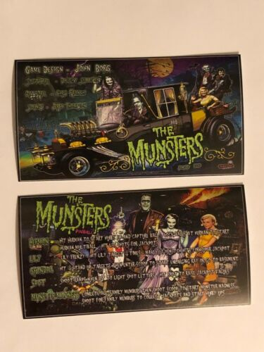 The Munsters Pro or LE L.E. Stern Pinball Apron Instruction Cards