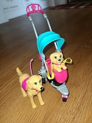 Barbie's Strollin Pups Taffy & PUP with Dog Stroller