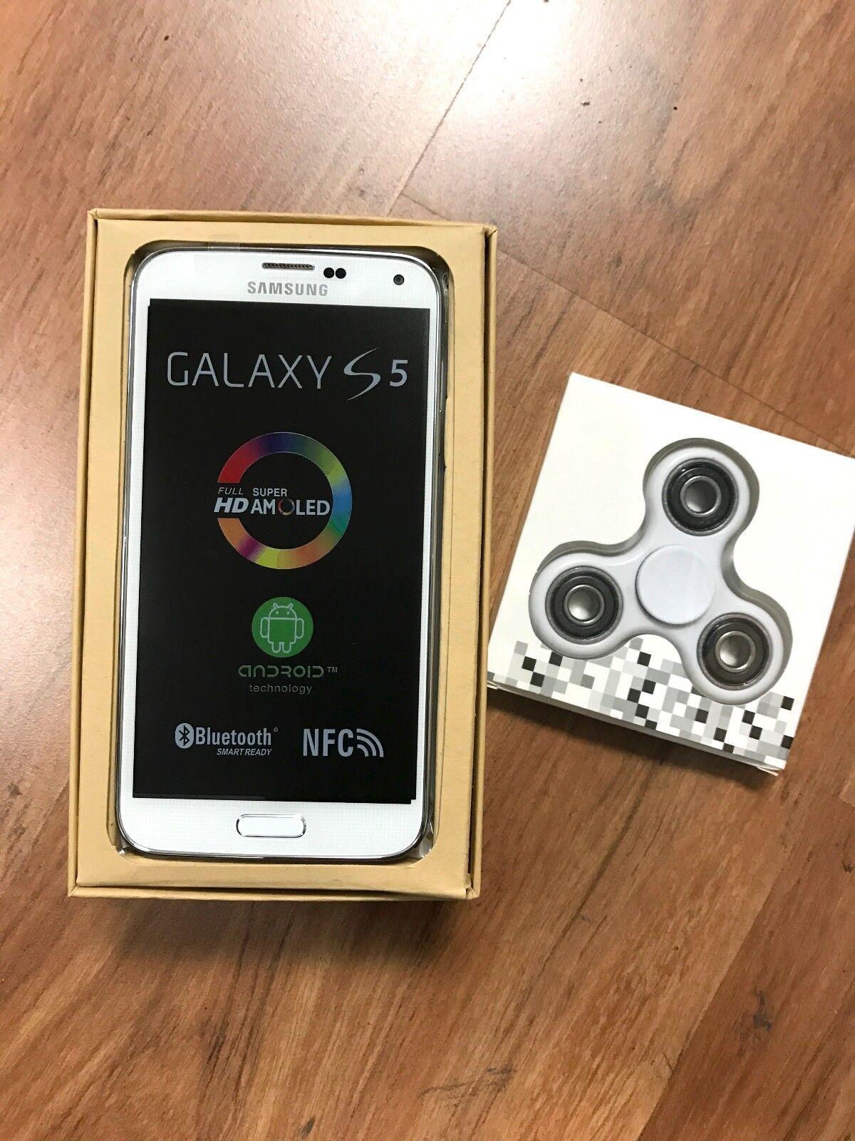 $159.99 - New Samsung Galaxy S5 SM-G900V - 16GB - Shimmery White GSM (Unlocked) Verizon.
