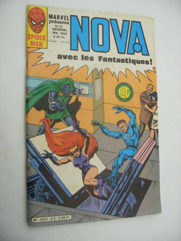 Semic MARVEL DC Comics FRANCE Spiderman BD LUG Super Heros NOVA n°52 Mai 1982