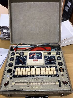 Jackson Tube Tester Model 648 With Manual And Accessories