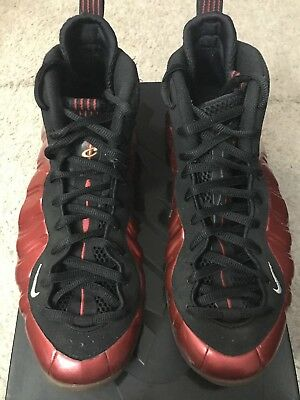 2011 Nike Air Foamposite ONE Metallic Red Black  314996-610 METALLIC RED Size10