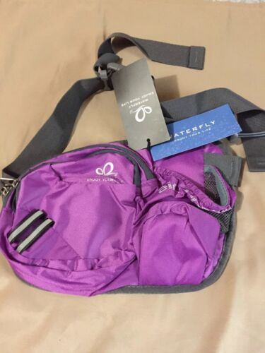 Waterfly Hiking Waist Bag Fanny Pack with Water Bottle Holde