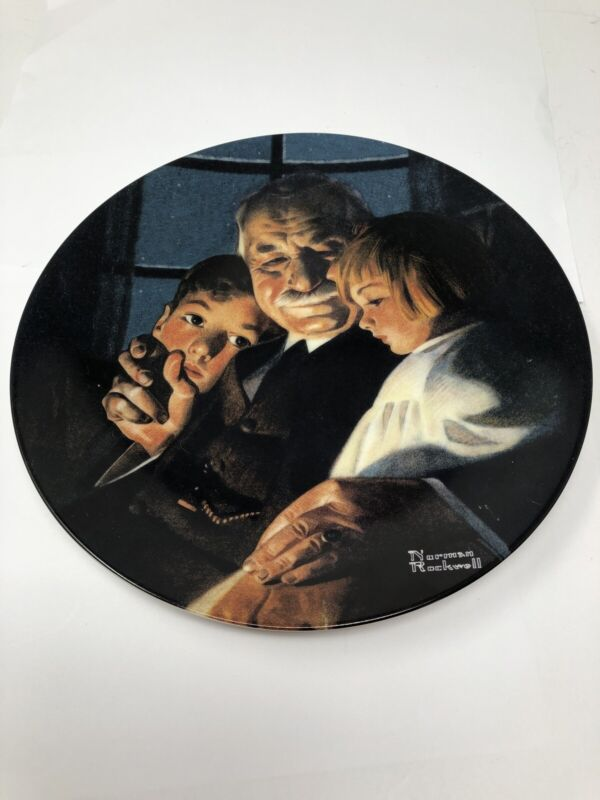 Norman Rockwell Plate 2000 Bedtime Story 24th  In Heritage Collection #16347A