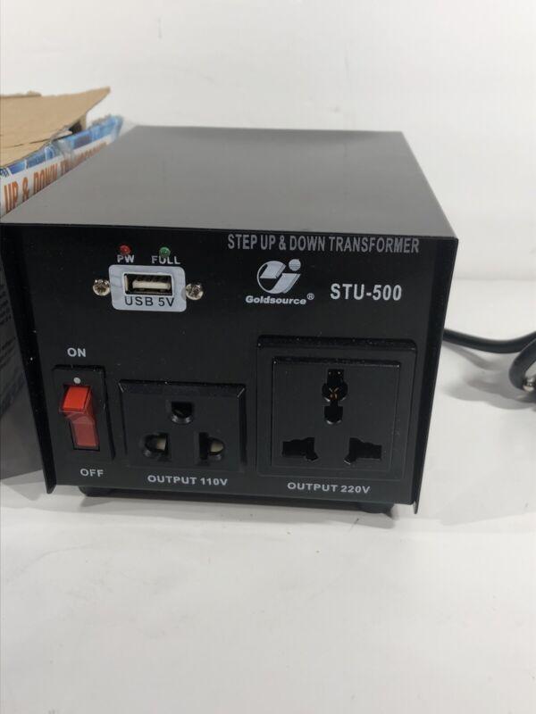 Goldsource 500W Step Up & Step Down Voltage Transformer Converter STU-500 Hea...