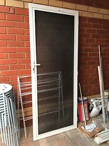 Like New Security Door - White, Galvanised Steel Mesh Roxburgh Park Hume Area Preview