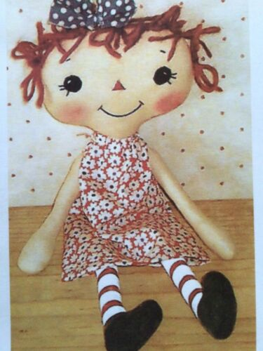 PATTERN Primitive EASY TO MAKE Raggedy Ann Doll UNCUT OOP Bowls n Annies