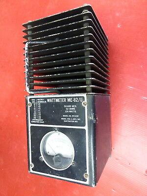 Me-82u Rf Wattmeter 50-600mhz 120 Watt 52 Ohm For Testing Radio Transmitter