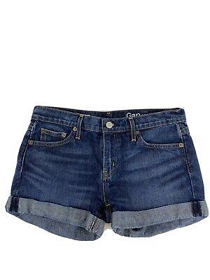 Gap Women's Dark Wash Best Girlfriend Denim Jean Shorts Sz