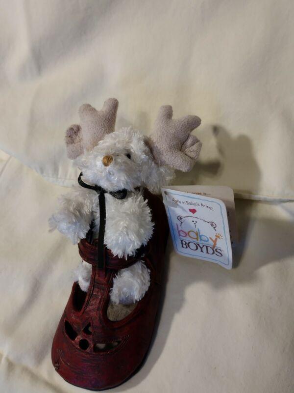 Baby Boyds Bear-Foot Friends Mya Tis The Season #99068V Plush In Shoe