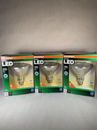 SYLVANIA ULTRA 100-Watt PAR38 Warm White Dimmable LED Flood Light Set Of 3 - $50.99