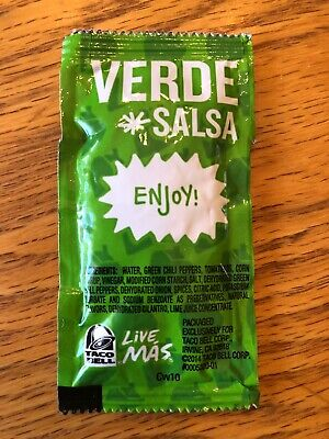 Taco Bell Verde Salsa - Discontinued, Rare, Collectible, Un-opened