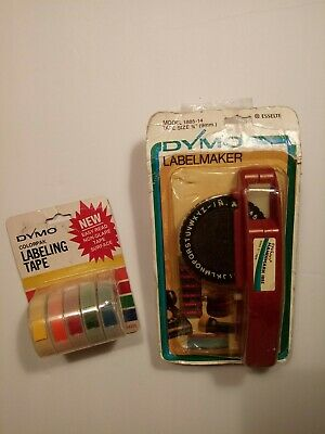 Vintage Dymo Label Maker Lot Handimark 1885 With 5 Pack 38 Tape New In Package
