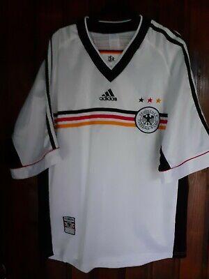 GERMANY 1998 2000 ADIDAS HOME FOOTBALL SOCCER SHIRT JERSEY TRIKOT MEDIUM image