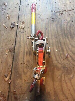 Lug-all Belt Strap Lever Hoist Lineman Hot Stick Ratchet Puller 1500 3000 Lbs