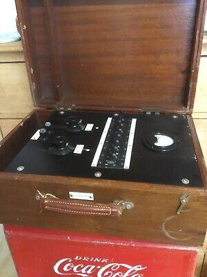 Vintage Testing Equipment & Wood Box Gpo ?