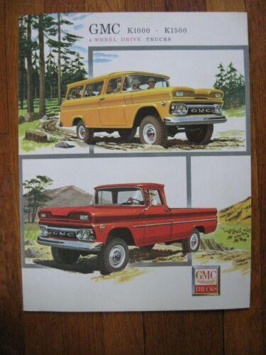 1960 GMC 4x4 4-Wheel Drive Pickup Truck Brochure K1000 K1500 ORIGINAL