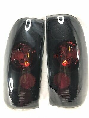 Sonar SK3710-F150 Black Smoke Euro Style Tail Lights Fits 99-07 Ford 250 350