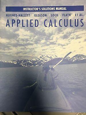 Applied Calculus   Instructors Solutions Manual By Deborah Hughes Hallett