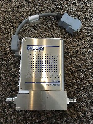 Brooks Instrument N2 Test Pressure 35 Psig Thermal Mass Flow Meter Gf125xxxc