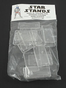 Pack of 20 Star Wars Modern Action Figure Display Stands Wide Stance POTF2