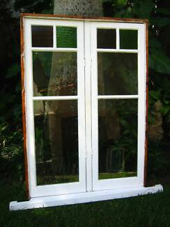 Timber Casement Window with coloured panes