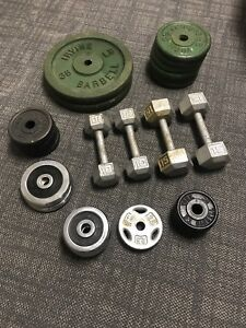 235 pounds of weights