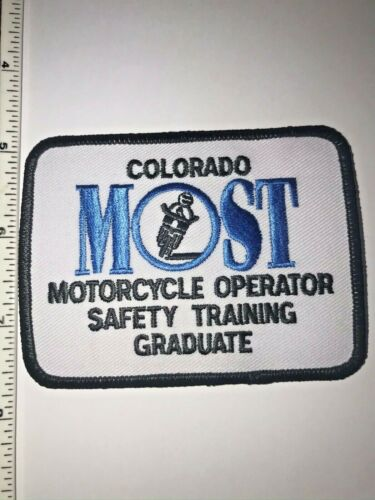 Colorado DMV MOST Motorcycle Operator Safety Training Police Patch New