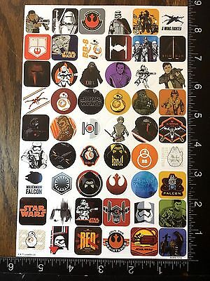 STAR WARS THE FORCE AWAKENS BY LUCAS FILM, SHEET BEAUTIFUL STICKERS #DARK09
