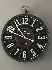 "Industrial Metal Clock 32"" Diameter"