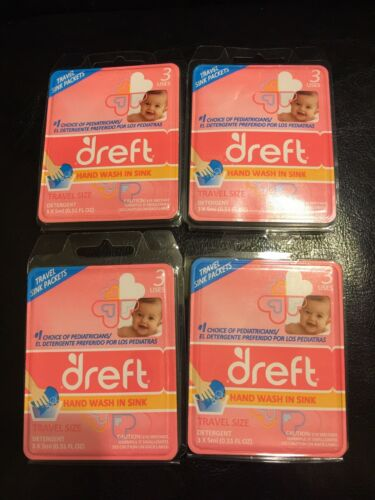 Dreft Detergent Travel Sink Packets 3 Count
