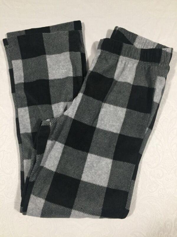 Old Navy Boys Fleece Gray/Black Plaid Sleep Pajama Pant Sz XL (14-16) NWOT