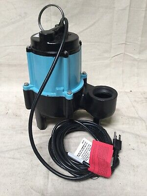 Little Giant 10sn-cim 12 Hp Manual Submersible Sewage Pump 115 Voltage 80 Gpm
