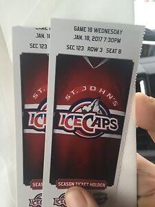Icecaps game Jan 18