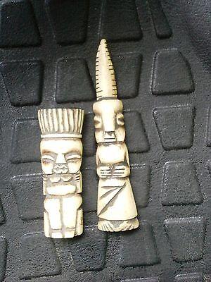 Gorgeous Statues Statuettes Couple OS Lega Zaire Congo - Art African Tribale